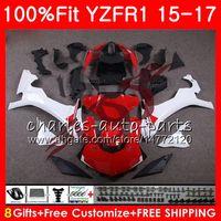 Wholesale Yzf R1 Fairing Kit Green - Injection Body For YAMAHA YZF 1000 red white YZF-R1 15 17 YZF R1 2015 2016 2017 87NO33 YZF1000 YZF R 1 YZF-1000 YZFR1 15 16 17 Fairing kit