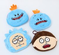 Wholesale money collection - Rick and Morty Plush Coin Purse cartoon wallet Rick and Morty Mr Meeseeks Plush Purse Money Coin Collection Gift Coin Purse KKA3246