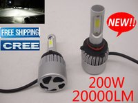 Wholesale led light car modified - 200W 20000LM Free Shipping hot sell 2017 new S2 led headlights for car light marketing modified car headlamps hid