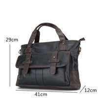 Wholesale 13 Laptop Shoulder Leather Bag - New Business Bag Handbag Men Leather Laptop Bag For 13 inch Famous Men Briefcase Travel Crossbody Bags Large Capacity