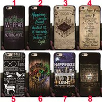 Wholesale Hard Maps - For iPhone 5 6 6S 6 6S Plus Hard PC Case Cover Harry Potter Marauders Map Style By ePacket