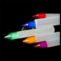 Wholesale Ecigarette Pen Style - ECigarette Unicorn Bottle E Liquid Bottles 10ml 15ml 30ml Dropper Plastic Empty Pen Style Bottle with Colorful Cap free ship