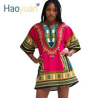 vestidos do baile de finalistas da cópia do chinês venda por atacado-Dashiki Vestido 2017 Mulher Africana Tradicional Imprimir Dashiki Manga Curta Bazin Riche T-shirt Roupas Vestidos Africanos Para As Mulheres q1110