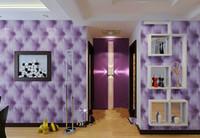 papel pintado mariposa para diseños de paredes al por mayor-10 metros / lote bolso de cuero de Imitación de cuero 3d papel tapiz de PVC blanco sofá de cabecera de la televisión de fondo papel pintado de la pared papel de parede