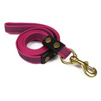 Wholesale strong dog collars leashes resale online - Nylon Dog Leash Very Strong Sturdy and Durable Anti slip Traction Rope for Big Dog Large Dogs Pet Products