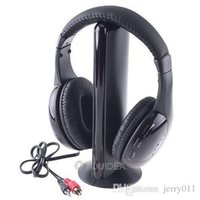 Wholesale Casque Sans Fil - 5IN1 Wireless Headphone Casque Audio 5 en1 Sans Fil Ecouteur Hi-Fi Radio FM TV MP3 MP4 Neuf 80215