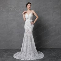 Wholesale Photos Fashion Models - Shinny Sparkle Wedding Dress with Detachable Train Illusion Fashion 2018 Real Photo New Style Delicate Handmade Flower