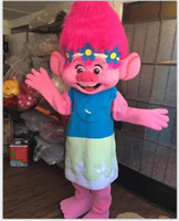 Wholesale Clown Music - 2018 Factory direct sale Mascot Costume Trolls Branch Mascot Parade Quality Clowns Birthdays Troll party fancy Dresss
