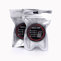 Wholesale electronic cigarette coil wire - Newest Twisted Wire Resistance Coil 30 Feet 24 26 28 30 Guage Heating Wires For Electronic Cigarette DIY Rebuildable RDA RBA Vaporizer Mod
