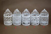 Mode Hot Bird Cage Décoration bougeoirs Cage de mariage oiseau Cage