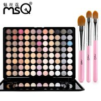 Wholesale Makeup 88 Colors - 88 Color Eye Shadow Makeup Palette Metallic Color  Matte  Pearlescent  Earth Colors Bare Color Not Blooming Eye Shadow