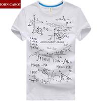 Wholesale Formula Brands - Wholesale-Free Shipping Brand JOHN CABOT Summer M-5XL mens t shirt Short Sleeve O Neck Print Mathematical Formula Plus Size Males Clothes