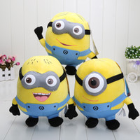 Wholesale Despicable 9inch - Despicable Me 90pcs 9inch high quality Despicable Me Minion 3D eyes Plush Toy Doll Minions Dave Jorge Stewart Plush Toy hot