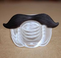 Wholesale Solid Silicone Girl - new Baby Boy Girls Funny Infant Pacifier Orthodontic Perfect Dummy Nipples Pacifiers Kids And Children Mustache Pacifiers Seals168 ZJ16-N02
