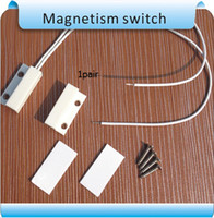 Wholesale Magnetic Reed Switch Alarms - Free shipping 20pairs MC-38 Window or Door Contact Magnetic Reed Switch Alarm system  closed NC