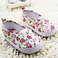 Wholesale Wholesale Fresh Shoes - First Walker Shoes for baby girls 2015 new sweet printing infant casual shoe Pure and fresh style newborn leisure cloth shoes 0-1age ab1122