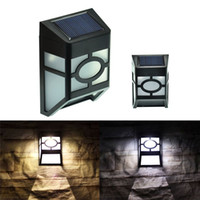outside landscape lighting - Solar Powered Wall Lamp Outdoor Wall Light Continential LED Light Garden Yard Light High Brightness Lights Outside Landscape Lamp Waterproof