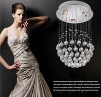 Wholesale Led Globe Down Light - Luxury Modern Chandelier design K9 crystal light pendant lamp with 35W LED GU10 Bulbs LED Ceiling Light Globe dandelion Shape Lamps