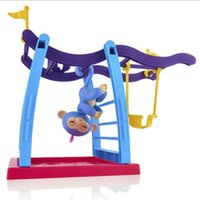 2017 Nuovi Giocattoli Playset Altalena Per Monkey Fingerlings Baby Monkey Outdoor Sport Trainer Cimbing Stand Fitness Staffa Come Regali per Bambini