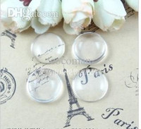 Wholesale Free Shipping Cabochons - Wholesale-A1903 Free Shipping!100pcs lot 25mm Good Quality Domed Round Transparent Clear Glass Cabochons Cameo settings Glass Cover