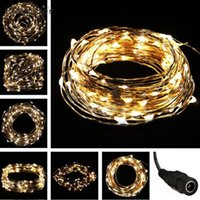 Atacado- MA 28 Shining Hot Selling Fast Shipping LED Warm White 10M 33FT 100LED Copper Wire String Decoração Decoração Fairy Light