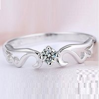 Casamento Moda / Engagement Mulheres Anéis Simulado Diamond Jewelry Angel Ring Hot Sale Cheap Wholesale J001 Anéis Aneis