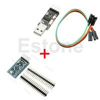 Wholesale Pro Mini Module Atmega328 - Wholesale-J34 Free Shipping Pro Mini Module Atmega328 5v 16M+USB2.0 To TTL 6Pin CH340G Converter For Arduino