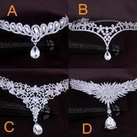 hint saç zinciri takı toptan satış-Ucuz Gelin saç aksesuarları kadınlar için düğün moda Metal boncuklu inci zincir kafa saç takı Hint kadınlar gelin süsler taç