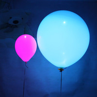 Wholesale Party Happy - Wholesale-50pcs Led Flash Balloons Illuminated LED Balloon Glow In The Dark Sky Lanterns Happy Birthday Decoration globos Party Baloons