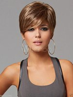 Wholesale Short Sexy Wig - Free Shipping to World From China Beijing.New sexy women's short Mix Blonde Natural Hair wigs +wig cap + wig