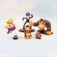 Wholesale king kong toys for sale - Group buy Super Mario Bros Vallio monkey King Kong toys design EMS Free new children PVC Super Mario Bros cm Animation game series toy B001