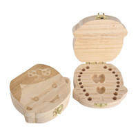 Wholesale Tin House Storage Box - Baby Teeth Box save Milk teeth Wood storage box tooth house storing keepsakes and mementos great gifts 3-6YEARS boy girl