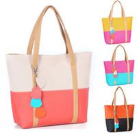 Wholesale Messenger Product - Cheap Products Spring bag Vintage women messenger bags women's Contrast Color Shoulder Bag