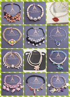 Pour plus mixte 50PCS de style / lot hyperbole de la mode cristal en alliage de luxe perle Bud soie lèvres sexy collier Lady / fille Collier Sweater
