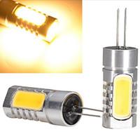 Wholesale g4 cars online - High Power G4 COB Bulb W W W W W LED Bulb Lamp Corn Light MR16 Spotlight DC12V Warm White White Led Corn Bulbs LED Car Light