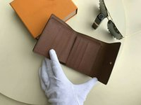 Wholesale French Business Letters - Brand French Wallet Women Anais Real Leather Short Hasp Clutch Curieuse album wallet CX#282 Damier purse card holder 60402 with Box bags