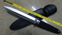 faca de botas venda por atacado-O ENVIO GRATUITO de 13 '' New ABS Lidar Com Adorno Militar Dagger Sobrevivência Fixo Bowie Faca de Caça VTH48 (PRETO)