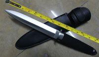 ingrosso coltello di stivali-SPEDIZIONE GRATUITA 13''New ABS Maniglia Militare Boot Dagger Survival Fixed Bowie Caccia Coltello VTH48 (NERO)