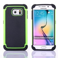 Wholesale Galaxy S3 Phone Skin Cover - Hybrid TPU Hard Case For Samsung Galaxy S6 SVI Edge S5 S4 S3 Mini Football Shockproof Rugged Rubber Silicone Armor Army phone Bag Skin Cover