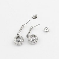 Wholesale Tongue Shape - GORGEOUS TALE Lovely Round Shape Clear Long Tear Drop CZ Stones Bridal Crystal Wedding Earrings For Brides Timeless Elegance