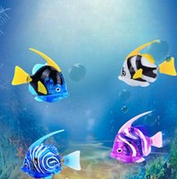 Acuario Divertido Nadar Electronic attery fish Powered Toy Pet para Tanque de Pesca Decoración Pescado Robot Electronic Deep Sea Fish KKA3415