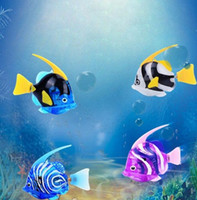 Aquarium Funny Swim Electronic fish attery Pet Toy Toy para pesca Tank Decoração Fish Robot Electronic Deep Sea Fish KKA3415