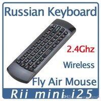 Russische Tastatur Rii i25 K25 2,4 GHz Fly Air Mouse Wireless Keyboard Combos Fernbedienung für Android TV Mini-PC Tablet PC