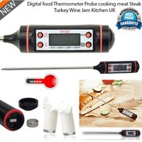 Wholesale 10 off Diacount Digital Cooking Food Probe Meat Household Thermometer Kitchen BBQ Buttons Food Cooking Meat Steak Probe Thermometer Gauge