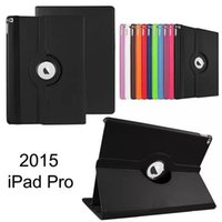Wholesale Apple Ipad Magnetic Cover - 360 Degree Rotating Flip PU Leather Smart Cover Stand Magnetic Case For Apple iPad Pro 12.9 inch 2 3 4 5 6 Air Air2 Mini Mini4 7.9inch