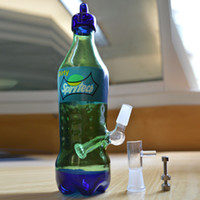 Glass sprite bottles - 2015 New Glass Bong Spritech Dirty Spritech High Tech Glass Galorade Oil Rig Sprite Bottle Hookah Botttle Bong Bubble Dab Glass Water Pipe