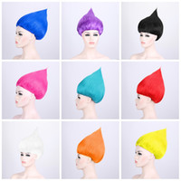 Wholesale magic wigs for sale - Group buy TAnime Magic Wizard Wigs Multi Colors Trolls Wig Children Cosplay Halloween Party Supplies Hot Sale xy Bkk