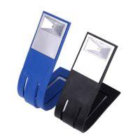 Wholesale Foldable Mini Book - Wholesale-Mini DIY LED Lamp Clip On Reading Lamp Variety Shape Bookmark Flexible Foldable Nightlight LED Book Light Novelty Lighting