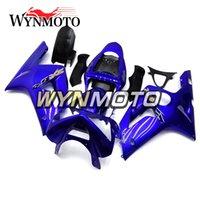636 kit en plastique achat en gros de-Carénages complets pour Kawasaki ZX-6R 636 2003 2004 03 04 Injection ABS Plastics Housses de coque Moto Kits ZX6R Bleu Brillant