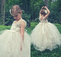 Wholesale Cheap Feather Skirt Dress - 2015 New Cheap Lovely Fashionable Flower Girls' Dresses Spaghetti Straps Floor Length Lace Hand Made Flower Soft Tulle Skirt Cute